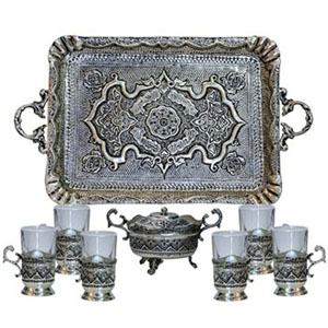 ENGRAVING TEA SERVICE